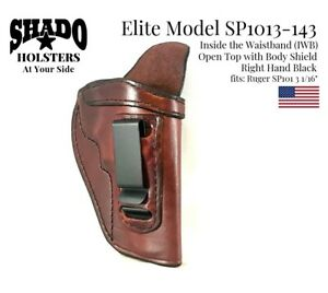 SHADO-Leather-Holster-USA-Elite-Model-SP1013-143-Right-Hand-Brown-IWB-Ruger