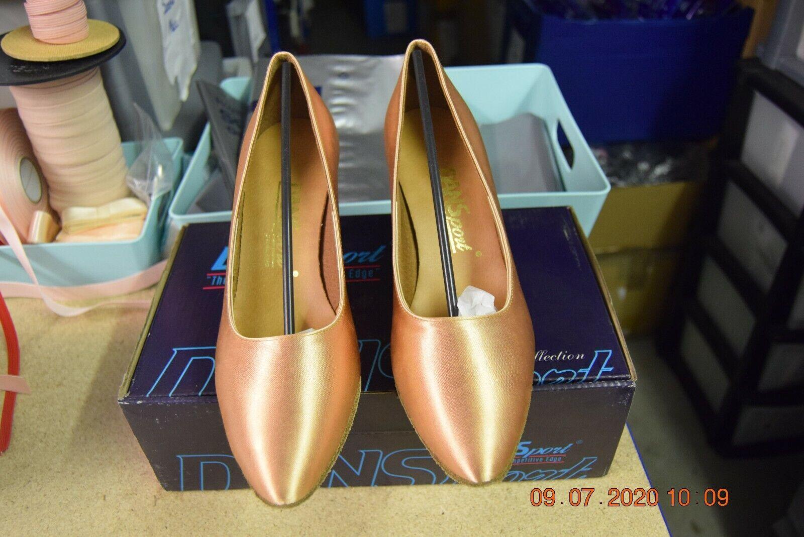 Flesh satin Dansport C2001 ballroom latin dance shoes - size UK 7.5