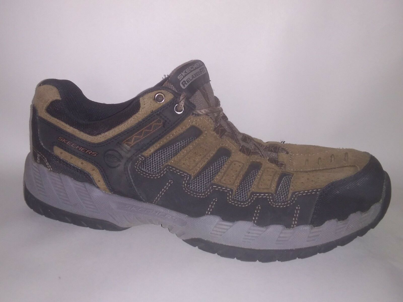 Skechers 51384 Thrill Seeker Gel Memory Foam Brown Black Mens 10 M Shoes Sneaker The most popular shoes for men and women