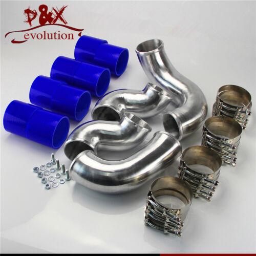 Blue Alloy Intercooler Piping Pipe Kit for Nissan Skyline R33 R34 GTR RB26DETT