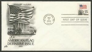 #1896 20c Bandera Sobre Supreme Court, Art Craft FDC Cualquier 4=