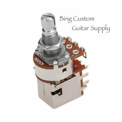 A500K Push Pull Audio Taper Electric Guitar Potentiometer Control Switch Pot