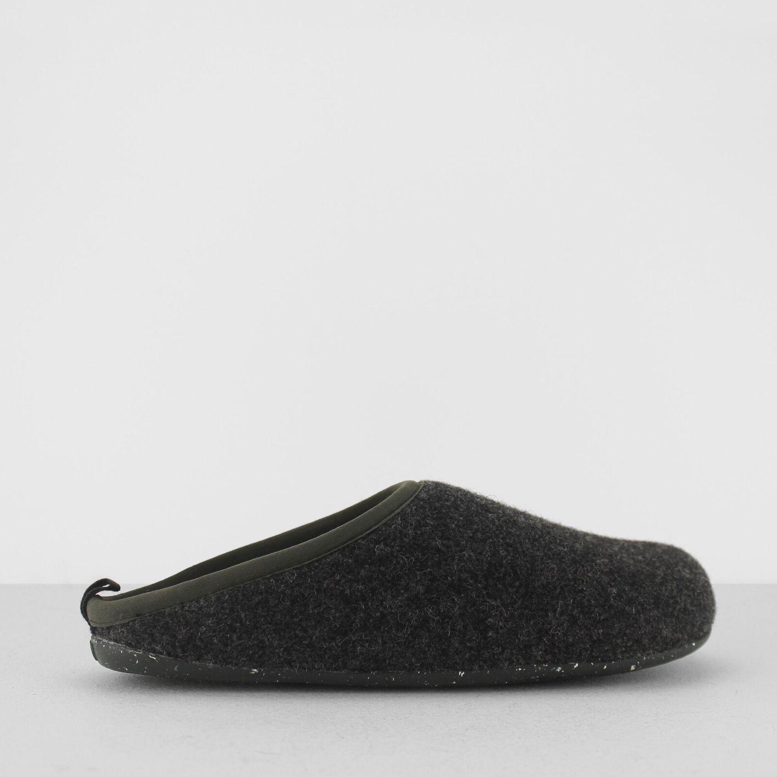 CAMPER Wabi da Uomo Elegante Ergonomica Anatomica Woolen Comfort Mule Pantofole Grigio