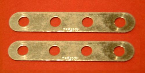 Two Meccano zinc part 235h Narrow Strips,