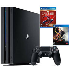 PlayStation 4 Pro 1TB Console Black + Marvel s Spider-Man: Game of The Year Edit