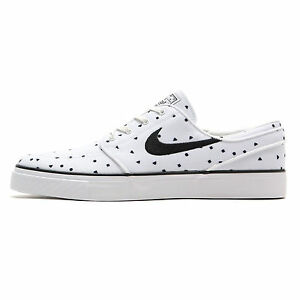ce18aa2aff0ef8 NIKE ZOOM STEFAN JANOSKI CANVAS PREMIUM MENS SKATE SHOES WHITE BLACK ...