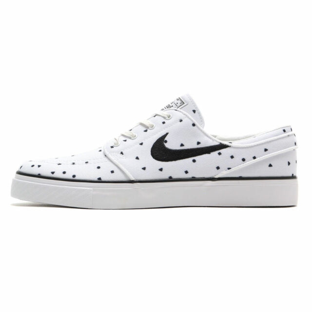quality design 54ced 8efdc NIKE ZOOM STEFAN JANOSKI CANVAS PREMIUM MENS SKATE SHOES WHITE BLACK 705190  100