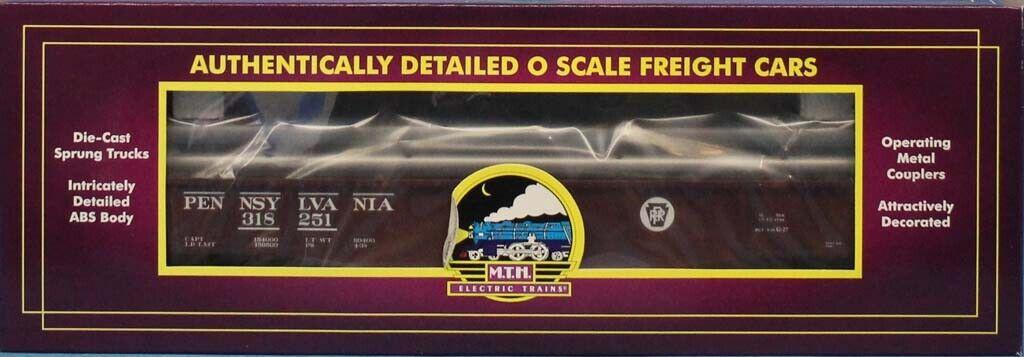 MTH 1 48 O Scale Pennsylvania Gondola auto wPipe Load  318251 Train  203412a