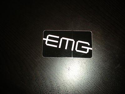 EMG ELECTRIC GUITAR PICKUP CASE RACK STICKER BLACK WHITE 3X5