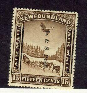 Newfoundland-stamp-211ii-15c-Brown-Land-amp-Sea-Post-OP-Shifted-MH-VF-CV-100-00