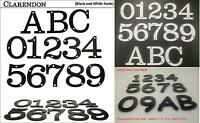 Number Letter Acrylic Screw in Digits Plate Plaque House Door Sign Black & White