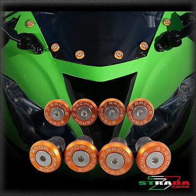 Strada 7 Racing CNC Windscreen Bolts M5 Wellnuts Set Black For Ducati 848 //EVO