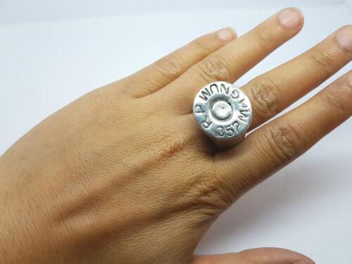 Men/'s Biker Heavy Metal Magnum 357 Steel Finger Ring Band