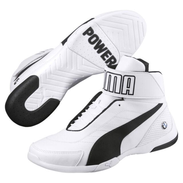 NEW NIB Men's PUMA BMW Kart Cat III MID SF High Top Shoes Sneakers Ultra White