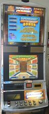 "WILLIAMS COINLESS VIDEO SLOT MACHINE ""SUPERMARKET SWEEP"" DUAL LCD SCREEN- WMS"