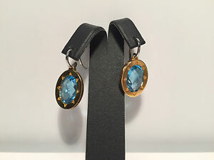 New-Pendientes-EarRings-Steel-amp-Topaz-Acero-y-Topacio