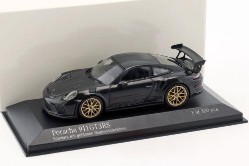 991 II Porsche 911 gt3 RS año de construcción 2018 negro con dorado de magnesio ruedas 1