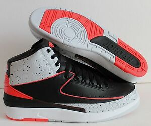 in stock c1682 b6a0a Image is loading NIKE-AIR-JORDAN-2-RETRO-BLACK-INFRARED-23-