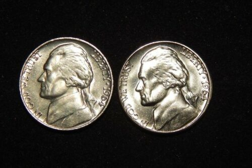 1964 P /& 1964 D Bu Jefferson Nickel from OBW Roll Flat Rate Shipping