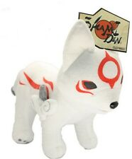 "Okami Okamiden Den Chibiterasu Wolf Plush Toy 12"" NWT"