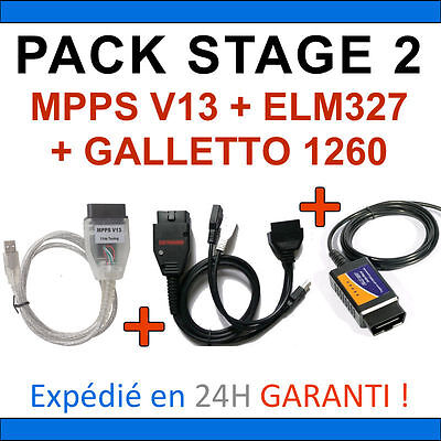 Adattabile ★ Diagnostic Et Programmation ★ Pack Stage 2 - Mpps V13 Galletto 1260 Elm327 Usb Acquista One Give One