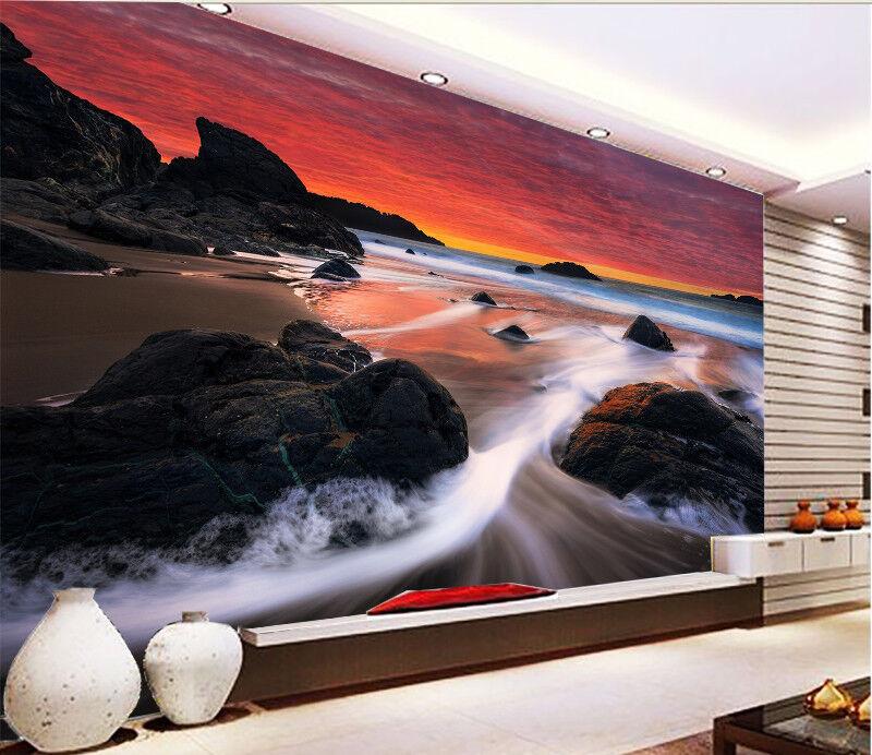 3D River Beach 45 Wallpaper Murals Wall Print Wallpaper Mural AJ WALL AU Kyra