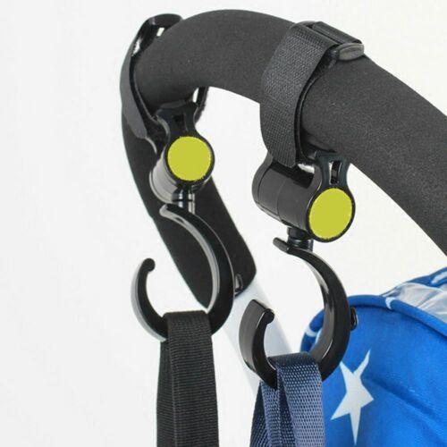 Hot Sale Fashion Stroller Hook Trolley Hanger Bag Carrier Holder 360 Degree