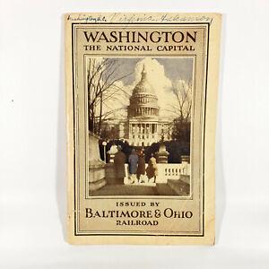 1930-Baltimore-amp-Ohio-Railroad-Washington-DC-Vintage-Travel-Guide-Booklet-B-amp-O