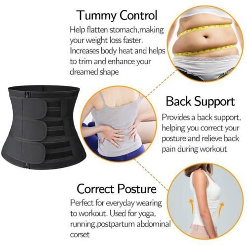 Details about  /Women/'s Neoprene Waist Trainer Cincher Sauna Sweat Body Shaper Yoga Slimmer Belt