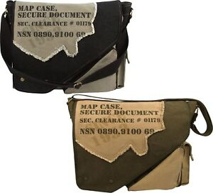 Image is loading Map-Case-Secure-Document-Stamped-Messenger-Shoulder-Bag e4498bd6e09
