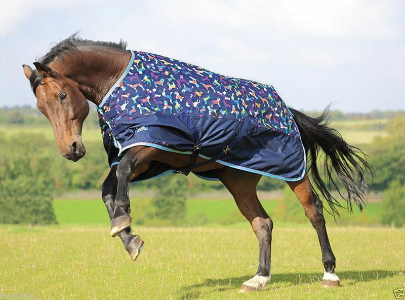 Shires Tempest Lightweight Horse Pony Turnout Rugs - Dog Print - 4'6 - BN