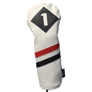 Majek-Retro-Golf-1-conducteur-Voile-Rouge-Blanc-Noir-Vintage-En-Cuir-Style