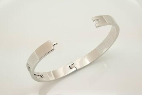 M STYLE 14K Or Blanc Finition Diamant Bangle Bracelet 4 CT BA2