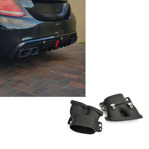 Rear Exhaust Pipe Tail Muffler Tip Fit For Mercedes Benz W213 E43 E63AMG 16-18