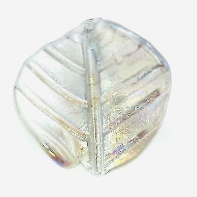 10 lampwork Verre Feuille Perles 33x27mm Fabrication de Bijoux Diverses Couleurs