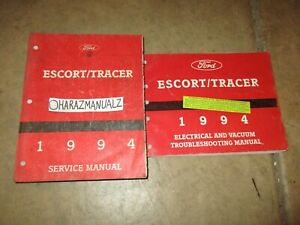 1994 Ford Escort Mercury Tracer Wiring Diagrams & Service ...