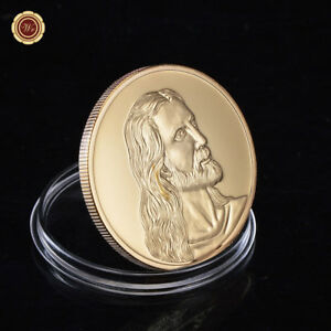 WR-The-LAST-SUPPER-Jesus-Religion-24K-Gold-Token-Coin-Rare-Mint-Souvenirs-Gift