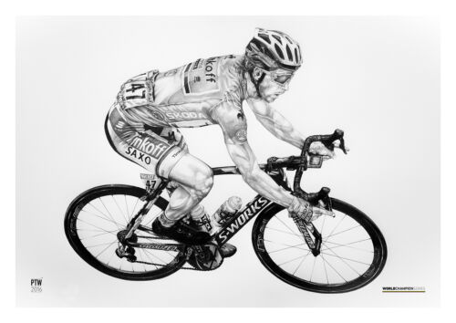 Peter Sagan Art Print Poster Cyclist Cyklista Umenie