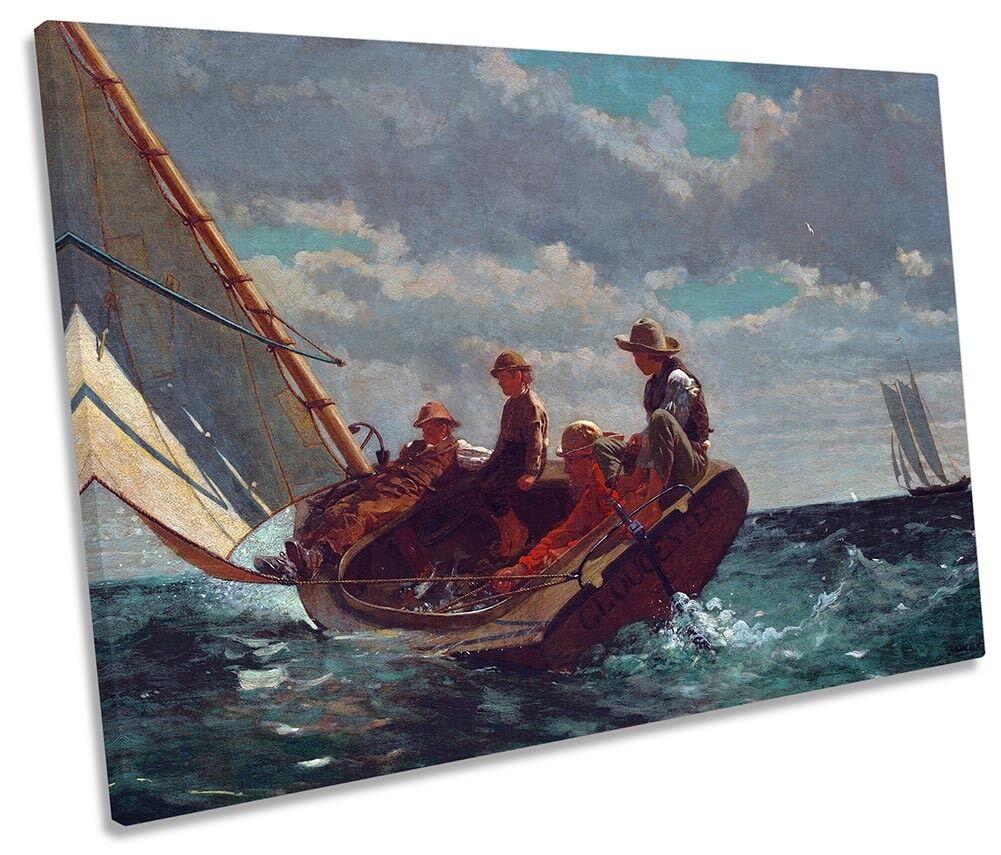 Winslow Homer Crisol una feria de LONA LONA LONA parojo arte impresión única de viento 545d31