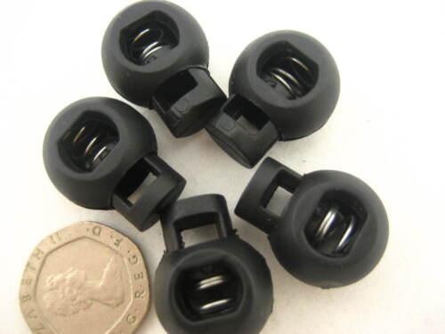 Reino Unido Stock ronda 10pc Cable Ajustadores De Cuerda alterna Tapón de bloqueos de cable de resorte