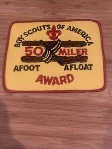 Vtg-Boy-Scouts-Of-America-50-Miler-Award-Afoot-Afloat-Hike-amp-Boat-Patch
