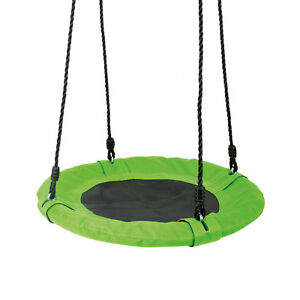 nestschaukel kinder gr n bis 100 kg rundschaukel kinderschaukel rund garten 4020972104748 ebay. Black Bedroom Furniture Sets. Home Design Ideas