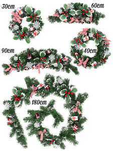 Christmas-Nordic-Wreath-Garland-Swag-Xmas-Scandi-Festive-Door-Mantle-Decoration