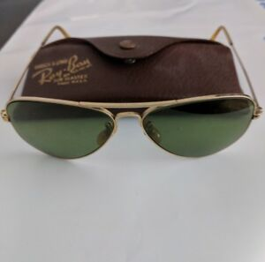 c57e41abf7 Ray Ban Vintage WWII Aviator Gold Filled Sunglasses with Case Mint ...