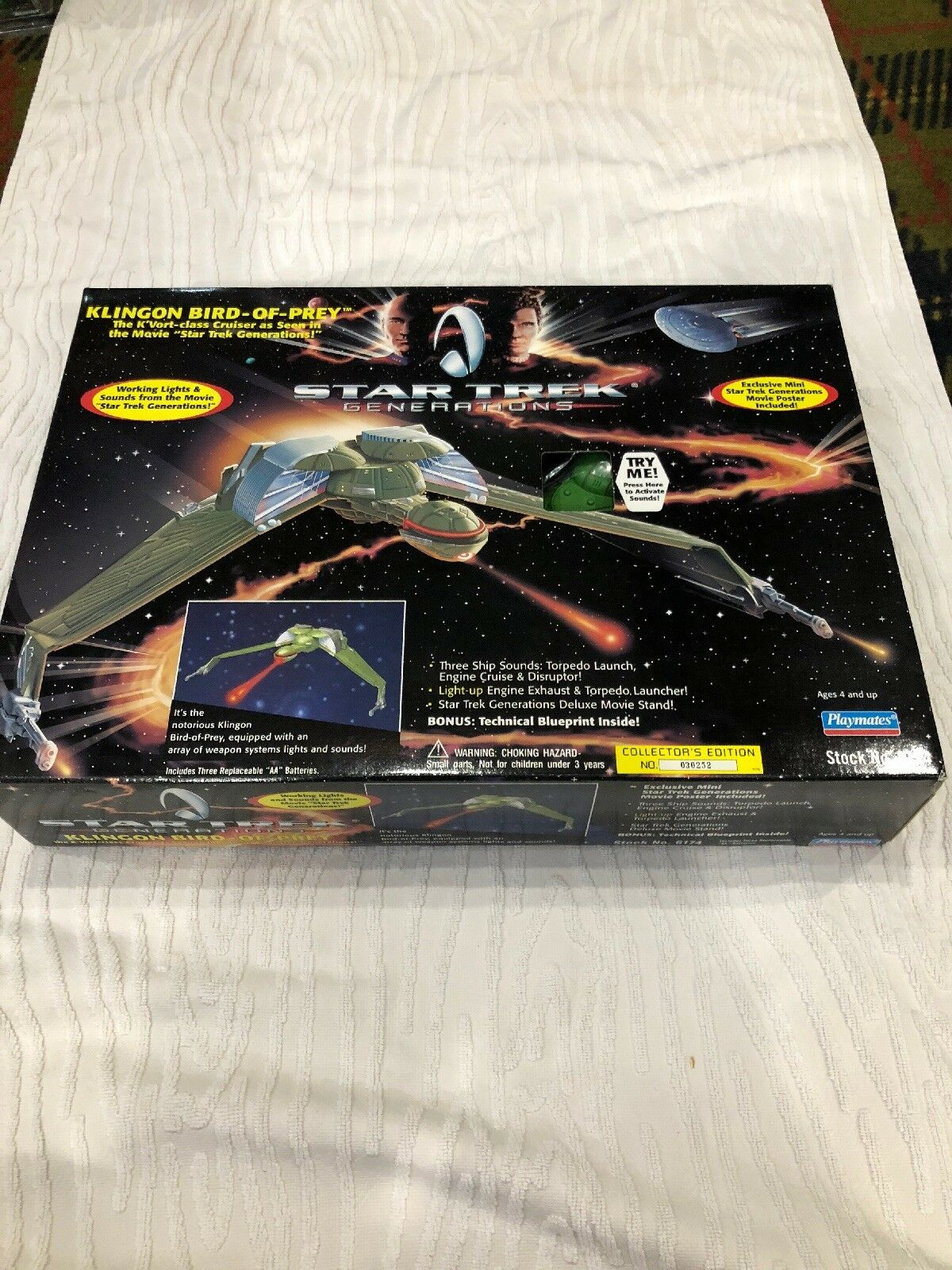 Star trek generations - bird-of-prey 1994 c9.5 mib   6174