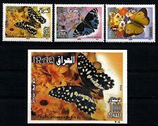 IRAQ IRAK 2007 Butterfly Butteflies SC 1722 - 1725  Full Set + S/S MNH