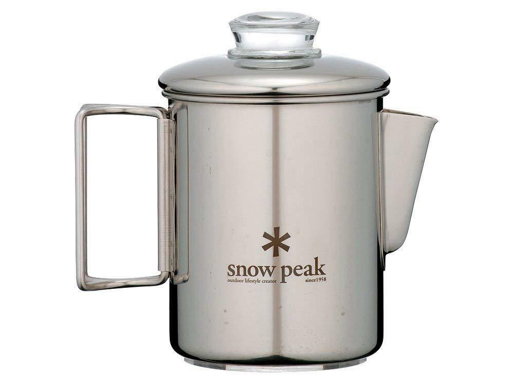 Snow Peak Cups Stainless Steel Percolator 6 Cups Peak PR-006 Cookware From Japan F/S NEW 7d49a4
