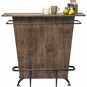 bar tisch bartresen hausbar heimbar theke lady rock walnut neu kare design ebay. Black Bedroom Furniture Sets. Home Design Ideas