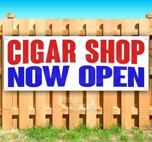 CIGAR SHOP NOW OPEN Advertising Vinyl Banner Flag Sign Many