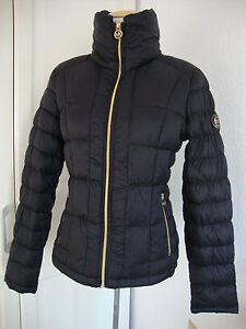 Details zu MICHAEL KORS Daunenjacke Damen Ultra Lightweight Packable Down Schwarz Gr.L NEU